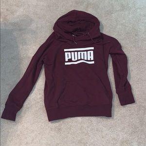 puma maroon hoodie